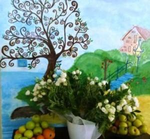 Fresque peinte par Pnina, la ''maman'' de la maisonnée de 12 enfants
