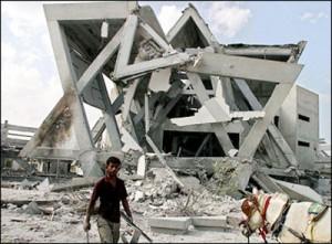 Synagogue de Nevedekalim détruite