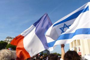 Drapeaux Israel-France