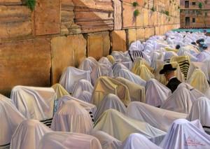 Birkat hacohanim - la prière des cohen a eu lieu le 25 avril 2016, au kotel