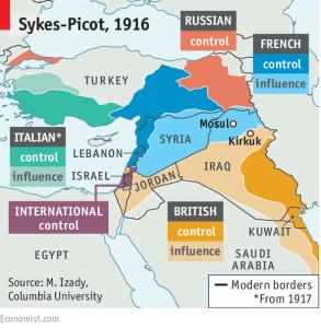 Aujourd'hui nous constatons le cuisant échec des projets du Français Picot et de l'anglais Sykes pour gérer le Moyen-Orient