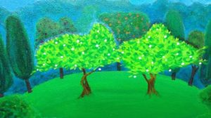Les deux arbres du Jardin